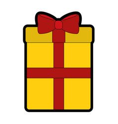 Gift box cartoon vector