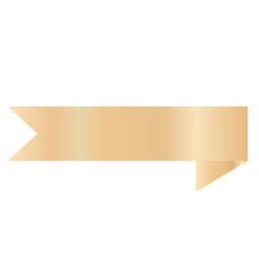 gold ribbon banner on white background golden vector image