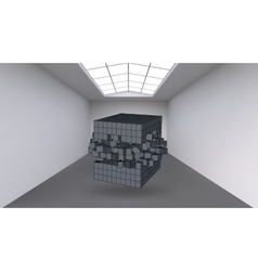 Hanging the cube from a multitude of small vector