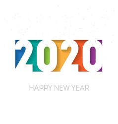 Happy new year 2020 background brochure vector