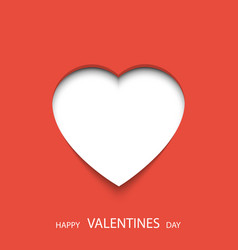 happy valentines day poster heart 3d with place vector image