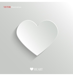 Heart icon - web background vector