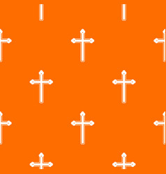 Holy cross pattern seamless vector