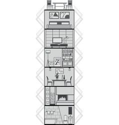 House interior silhouette vector