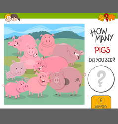 how many pigs game vector image