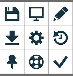 Interface icons set collection of monitor vector