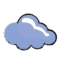 Isolated cloud symbol vector