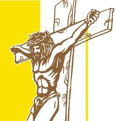 Jesus vatican flagConvertito vector