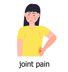Joint pain icon osteoporosis world day vector