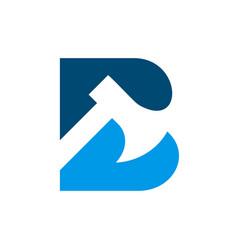 Letter b axe logo icon design template elements vector
