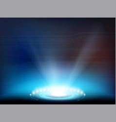 light spotlight with hud interface vector image
