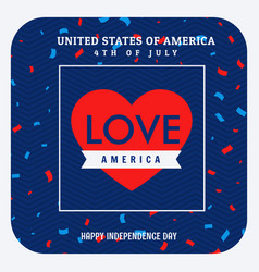 love america celebration background vector image