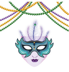 Mask and beads vector