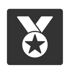 Medal icon from Award Buttons OverColor Set vector image
