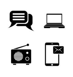 media broadcasting simple related icons vector image