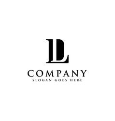 Monogram letter dl logo letter ld logo icon vector