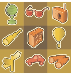 Multicolored travel icons vector image vector image