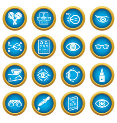 Ophthalmologist icons set simple style vector
