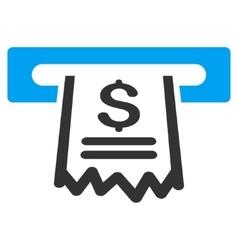 Paper Receipt Machine Flat Icon vector