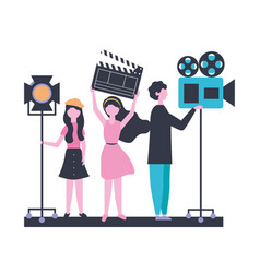 People team production movie film vector