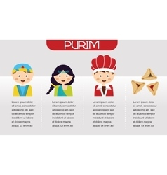 Purim Story Symbols of Jewish holiday purim vector