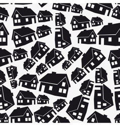 Real estate simple house seamless pattern eps10 vector