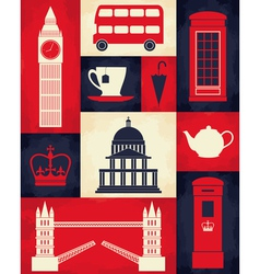 Retro London Poster vector
