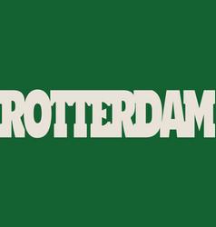 Rotterdam flag design concept vector