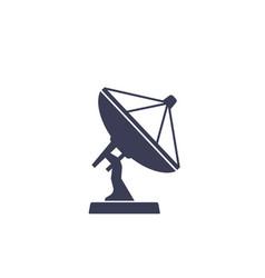 Satellite dish antenna icon on white vector