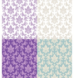 seamless floral damask vector image
