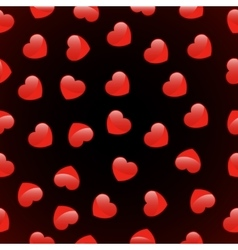 seamless pattern of red heart love vector image