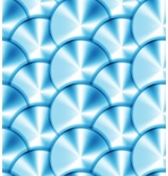 Seamless pattern with metallic circles vector image