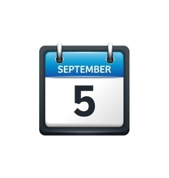 September 5 Calendar icon vector image