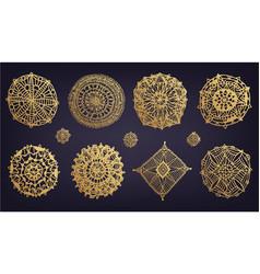 set abstract circle signs round vector image