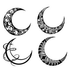 Set of moon vector image