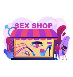 Sex shop concept vector