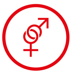 sex symbol rounded icon vector image