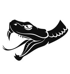 snake head tattoo vector image