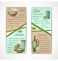 Spa banners vertical vector image