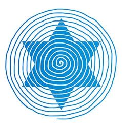 spiral David star vector image