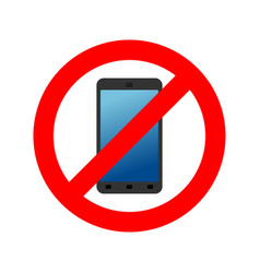stop phone it is forbidden to call ban smartphone vector image