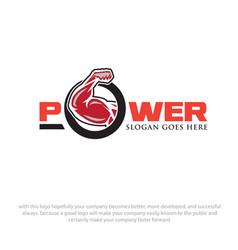 Strong power logo designs vector