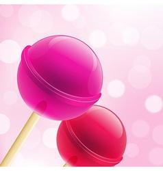 Sweet lollipops vector