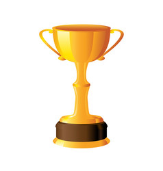 Tall gold trophy vector