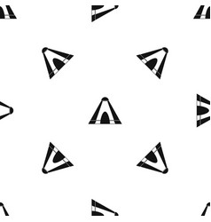 Tepee pattern seamless black vector
