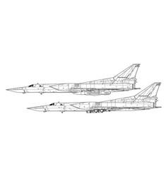 tupolev tu-22m backfire vector image