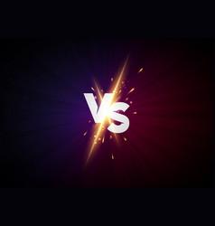 Versus screen background vs letters for sport vector
