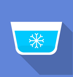 wash in cold water icon flat style vector image