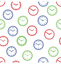 watch dial simple color seamless pattern eps10 vector image
