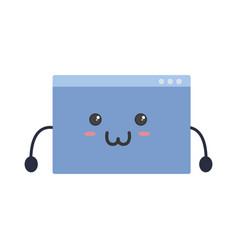 Website kawaii cartoon vector